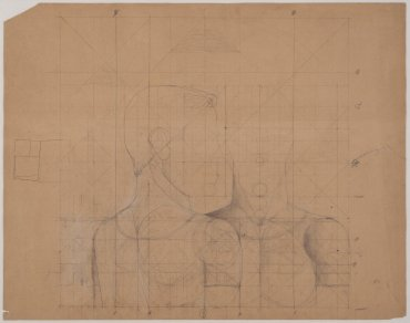 "Estudio armónico para el cuadro «Los atletas» (Symmetrical Study for the Painting ""The Athletes"")"