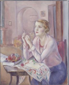Mujer haciendo ganchillo (Woman Doing Crochet)