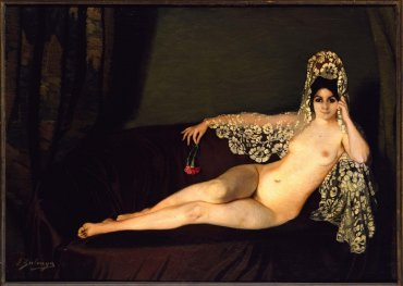 Desnudo del clavel (Nude with Carnation)