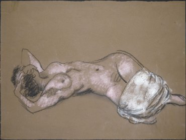 Nu allongé avec draperie (Reclining Nude with Drapery)