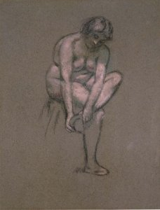 Femme nue se chaussant (Nude Woman Putting Her Shoes On)