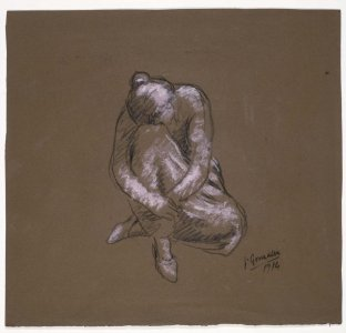Femme assise penchée (Woman Sitting and Bending Forward)