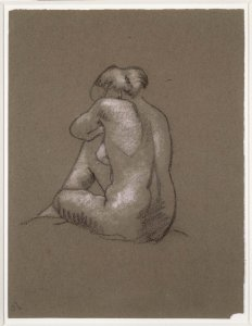 Nu assis de dos (Rear View of Seated Nude)