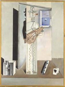 Pierrot tocant la guitarra (Pintura cubista) (Pierrot Playing the Guitar [Cubist Painting])