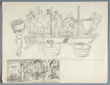 "Boceto para mural «El molino» (Sketch for the Mural ""The Mill"")"