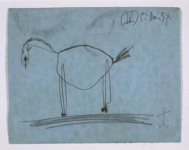"Estudio para el caballo (IV). Dibujo preparatorio para «Guernica» (Study for the Horse [IV]. Sketch for ""Guernica"")"