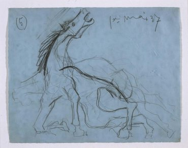 "Estudio para el caballo (II). Dibujo preparatorio para «Guernica» (Study for the Horse [II]. Sketch for ""Guernica"")"