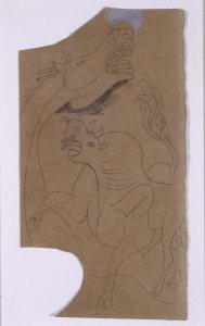 "Caballo y toro. Dibujo preparatorio para «Guernica» (Horse and Bull. Sketch for ""Guernica"")"