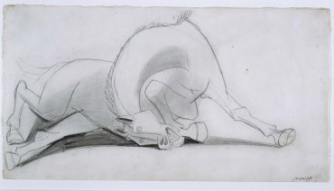 "Estudio para el caballo (I). Dibujo preparatorio para «Guernica» (Study for the Horse [I]. Sketch for ""Guernica"")"
