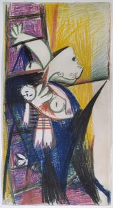 "Madre con niño muerto en escalera (II). Dibujo preparatorio para «Guernica» (Mother with Dead Child on Ladder [II]. Sketch for ""Guernica"")"