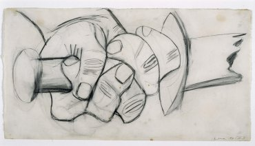 "Mano con espada rota. Dibujo preparatorio para «Guernica» (Hand with Broken Sword. Sketch for ""Guernica"")"