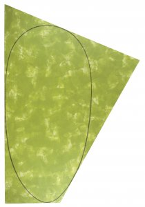 Irregular Green Area with a Drawn Ellipse (Área verde irregular con una elipse dibujada)