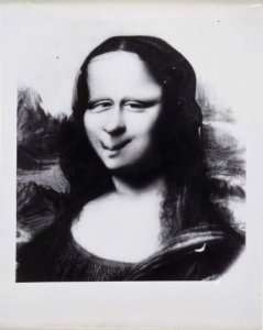 Mona Lisa, Distortion Study (Estudio de distorsión de Mona Lisa)