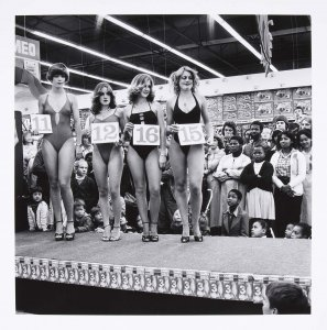 Saturday Morning at the Hypermarket: Semi-Final of the Miss Lovely Legs Competition, Boksburg, Transvaal