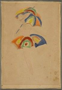 Esquisse costume avec parapluie (Costume Sketch with Umbrella)