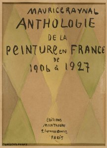 Project de couverture de Maurice Raynal: Anthologie de la peinture en France de 1906 à 1927 (Project for Cover of Maurice Raynal: Anthology of Painting in France from 1906 to 1927)