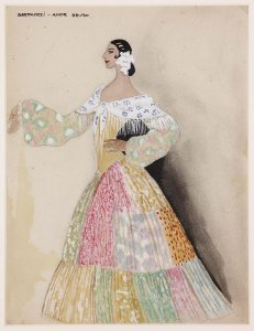 "Figurín para «El amor brujo» (Costume design for ""Love, the Magician"")"