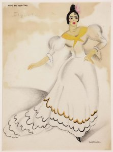 "Figurín para «Café de Chinitas» (Costume design for ""Café de Chinitas"")"